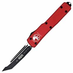 *NEW* MICROTECH, UTX-70 TE Automatic, Red Handle, Black Plain MNA-X-MT149-1RD