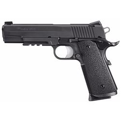 "*NEW* SIG SAUER 1911 TACOPS 45 ACP 5"" 8+1 NS Ergo XT Grip Black 798681422517"
