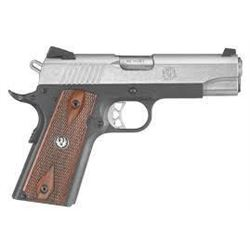 "*NEW* RUGER SR1911 Single 45 ACP 4.3"" 7+1 Hardwood Panel Grip SS Slide/Blued 736676067114"