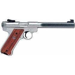 "*NEW* RUGER Mark III Competition SAO 22LR 6.9"" 10+1 Cocobolo w/Thumbrest SS 736676101122"