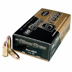 *AMMO* CCI 5201 Blazer Brass 9mm Full Metal Jacket Round Nose 124 GR (500 ROUNDS) 076683052018