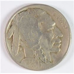 1924-S BUFFALO NICKEL, VF NICE! KEY DATE