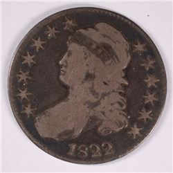 1822 CAPPED BUST HALF DOLLAR, FINE