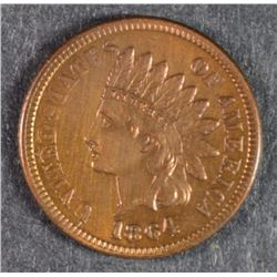1864 L INDIAN CENT XF/AU