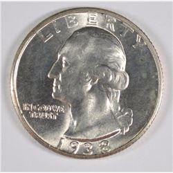 1938-S WASHINGTON QUARTER CH BU NICE!!