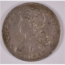 1833 BUST HALF DOLLAR, AU rim defect