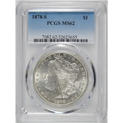 1878-S MORGAN DOLLAR PCGS MS62