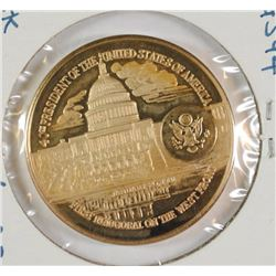 1981 OFFICIAL RONALD REAGAN INAUGURAL MEDALLIC ART 14 KT 27.2 GRAMS