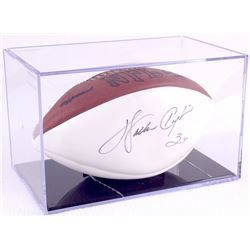 Walter Payton Signed White Panel Football with Display Case (PSA LOA)