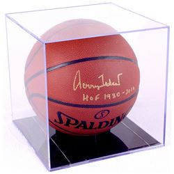 "Jerry West Signed Basketball Inscribed ""HOF 1980-2010"" with Display Case (PSA COA)"