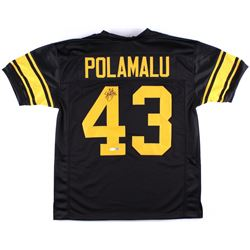 Troy Polamalu Signed Steelers Throwback Jersey (JSA COA & TSE COA)