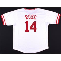"Pete Rose Signed Reds Jersey Inscribed ""Hit King"" (JSA COA)"