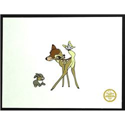 Bambi & Thumper Walt Disney Limited Edition Animation Serigraph Cel