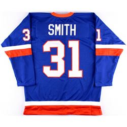 Billy Smith Islanders On-Ice Style Custom Stitched Jersey (Size XL)