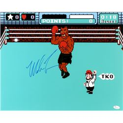"Mike Tyson Signed ""Mike Tyson's Punchout"" 16x20 Photo (JSA COA)"
