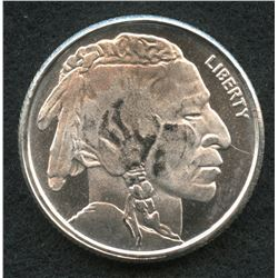 Buffalo 1/4 Troy Oz. Fine Silver American Indian Round Copy from Highland Mint