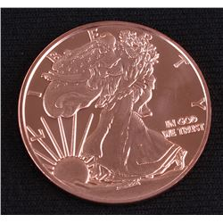 Walking Liberty 1 AVDP Oz. Fine Copper Commemorative Round