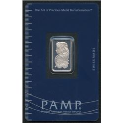 5 Gram PAMP Suisse Fortuna Silver Bar in Assay Card