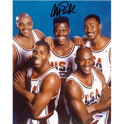 Magic Johnson Signed Team USA 8x10 Photo (PSA COA)