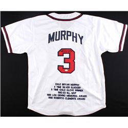 Dale Murphy Signed Braves Career Highlight Stat Jersey (JSA COA)