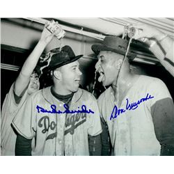 Duke Snider & Don Newcombe Signed Dodgers 11x14 Photo (FSC COA)