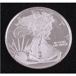 Walking Liberty .5 Troy Oz. Fine Silver Round Copy from Highland Mint