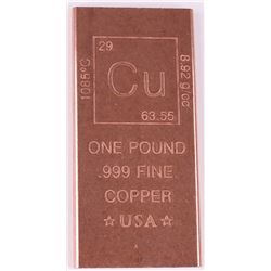 1 Pound Fine Copper Bullion Bar