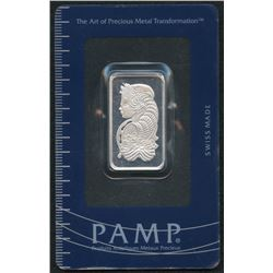10 Gram PAMP Suisse Fortuna Silver Bar in Assay Card