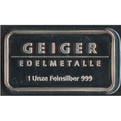 1 Oz Geiger Silver Bar
