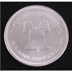 A-Mark 1 Troy Oz. Fine Silver Round