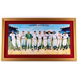 500 Home Run Club Multi-Signed 25x43 Custom Framed Photo Display with (12) Signatures including Mick