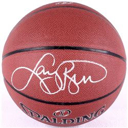 Larry Bird Signed Basketball (PSA COA & Bird Hologram)