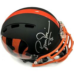 Boomer Esiason Signed Bengals Custom Flat Matte Black Full-Size Authentic Proline Helmet (JSA COA)