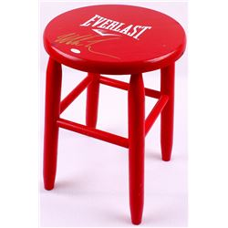 Mike Tyson Signed Authentic Full-Size Everlast Wooden Corner Stool (JSA COA)