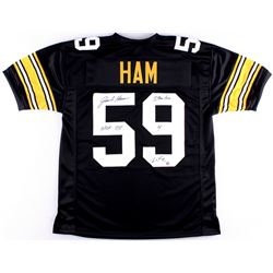"Jack Ham Signed Steelers Jersey Inscribed ""HOF 88"" & ""Steeler 4 Life"" (TSE COA)"