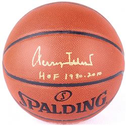 "Jerry West Signed Basketball Inscribed ""HOF 1980-2010"" (PSA COA)"
