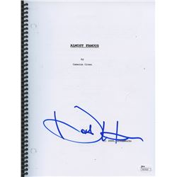 "Kate Hudson Signed ""Almost Famous"" Full Script (JSA COA)"