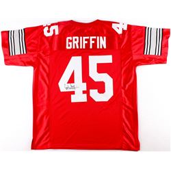 "Archie Griffin Signed Ohio State Jersey Inscribed ""H.T. 74/75"" (JSA COA)"