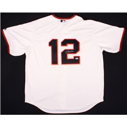 Joe Panik Signed Giants Jersey (PSA COA)