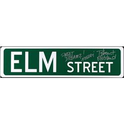 "Robert Englund Signed ""Elm Street"" Full-Size 6"" x 24"" Metal Street Sign Inscribed ""Sweet Dreams"" & """