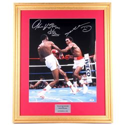 "Thomas Hearns & Sugar Ray Leonard Signed 23x28 Custom Framed Photo Display Inscribed ""Hitman"" (PSA C"