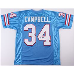 Earl Campbell Signed Oilers Jersey (JSA COA)