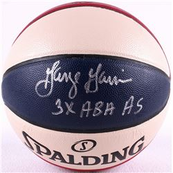 "George Gervin Signed ABA Official Ball Game Inscribed ""3X ABA AS"" (PPC COA)"