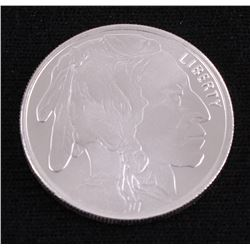 Buffalo .5 Troy Oz. Fine Silver American Indian Round Copy from Highland Mint