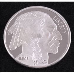 Buffalo 1 Troy Oz. Fine Silver American Indian Round from Sunshine Mint