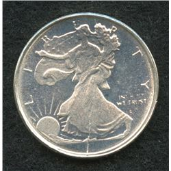 Walking Liberty 1/10 Troy Oz. Fine Silver Round Copy from Highland Mint