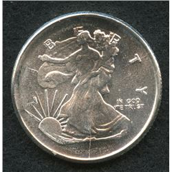 Walking Liberty 1/4 Troy Oz. Fine Silver Round Copy from Highland Mint