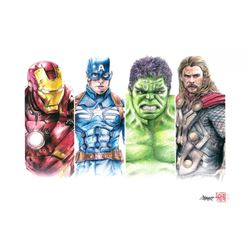 """The Avengers Limited Edition 8"""" x 12"""" Signed Comic Art Print by Thang Nguyen #15/50 (PA COA)"""