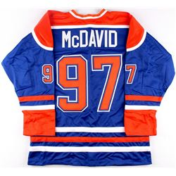 Connor McDavid Oilers On-Ice Style Custom Stitched Jersey (Size XL)