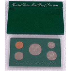 1994 United States Mint Clad Proof Set of (5) Coins